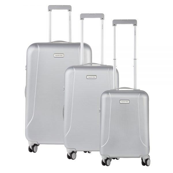 CarryOn Skyhopper Trolleyset 3pcs TSA silver