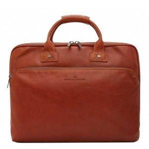 "Castelijn & Beerens Firenze Business Laptoptas 17"" licht bruin"