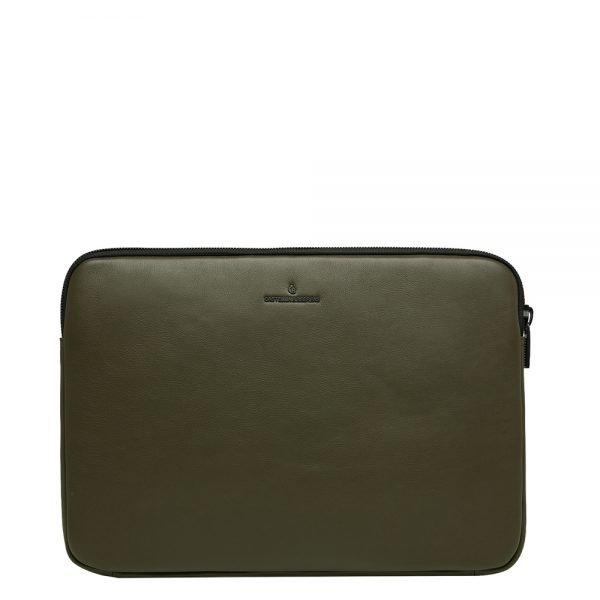 "Castelijn & Beerens Nappa X Mike Laptopsleeve 15.6"" dark millitary Laptopsleeve"