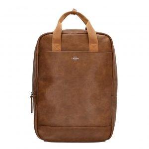 Charm London Farringdon Laptop Rugzak bruin backpack