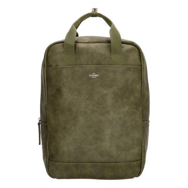 Charm London Farringdon Laptop Rugzak olijf backpack
