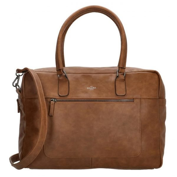 Charm London Farringdon Laptoptas bruin