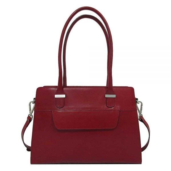 Claudio Ferrici Classico Shoulder Bag red IV Damestas