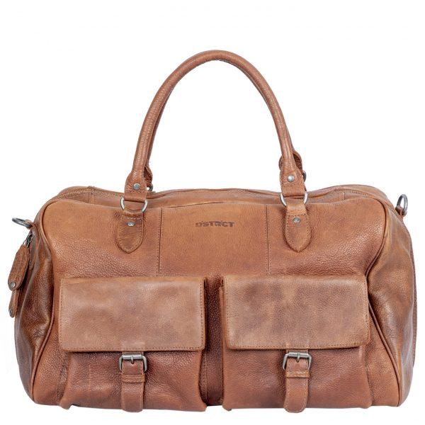 DSTRCT Raider Road Travelbag + cognac