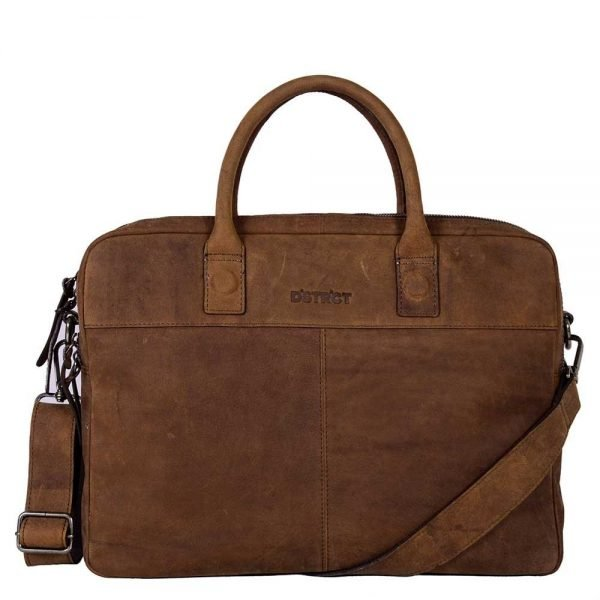 "DSTRCT Wall Street Workingbag 15"" brown"
