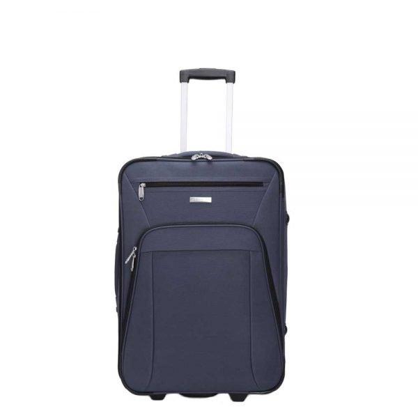 Decent Basic Line Trolley 54 d.blauw Zachte koffer