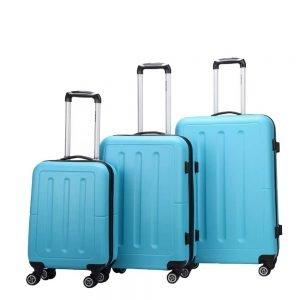 Decent Neon-Fix 3-delige Kofferset blauw