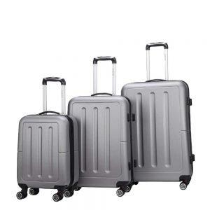 Decent Neon-Fix 3-delige Kofferset zilver