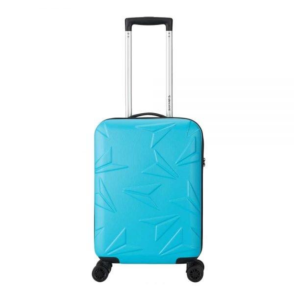 Decent Q-Luxx Trolley 55 blue Harde Koffer