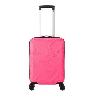 Decent Q-Luxx Trolley 55 pink Harde Koffer