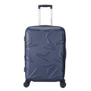 Decent Q-Luxx Trolley 67 deep blue Harde Koffer
