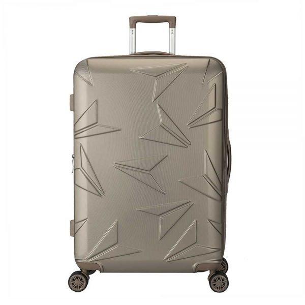 Decent Q-Luxx Trolley 77 champagne Harde Koffer