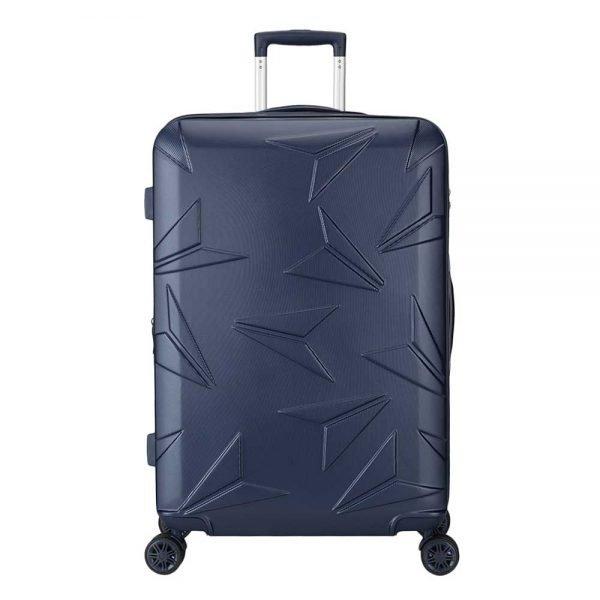 Decent Q-Luxx Trolley 77 deep blue Harde Koffer