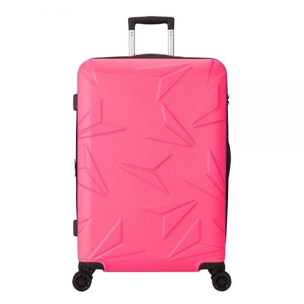 Decent Q-Luxx Trolley 77 pink Harde Koffer