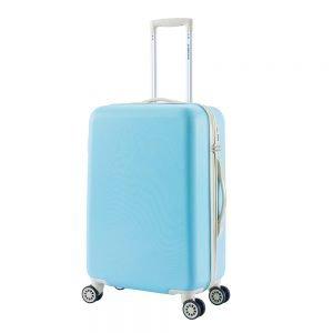 Decent Star-Maxx Trolley 66 pastel blue Harde Koffer