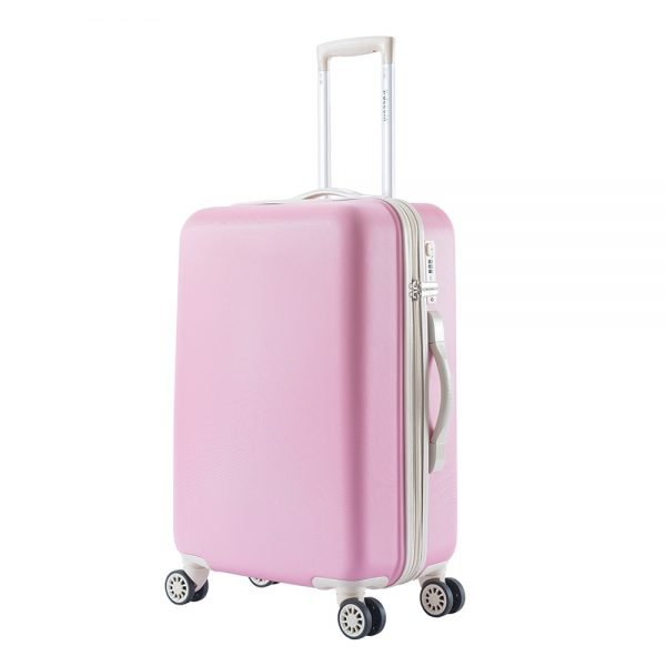 Decent Star-Maxx Trolley 66 pastel pink Harde Koffer
