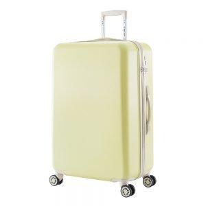 Decent Star-Maxx Trolley 76 pastel yellow Harde Koffer
