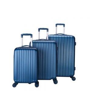 Decent Tranporto One 3-delige Kofferset donkerblauw