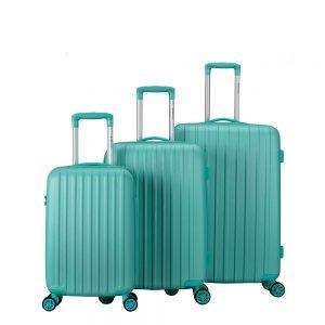 Decent Tranporto One 3-delige Kofferset mint groen