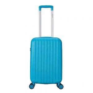 Decent Tranporto One Trolley 55 blauw Harde Koffer