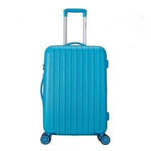 Decent Tranporto One Trolley 66 blauw Harde Koffer