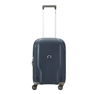 Delsey Clavel 4 Wiel Cabin Trolley Expandable blue Harde Koffer