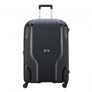 Delsey Clavel 4 Wiel Trolley 76 Expandable black Harde Koffer