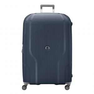 Delsey Clavel 4 Wiel Trolley 83 Expandable blue Harde Koffer