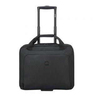 "Delsey Esplanade One Compartment Trolley Boardcase 15.6"" deep black Zakelijke koffer"