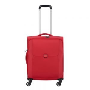 Delsey Mercure 4 Wheel Slim Cabin Trolley red Zachte koffer
