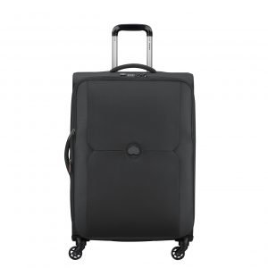 Delsey Mercure 4 Wheels Expandable Trolley 68 black Zachte koffer