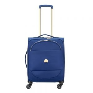 Delsey Montrouge 4 Wheel Slim Trolley 55 blue Zachte koffer