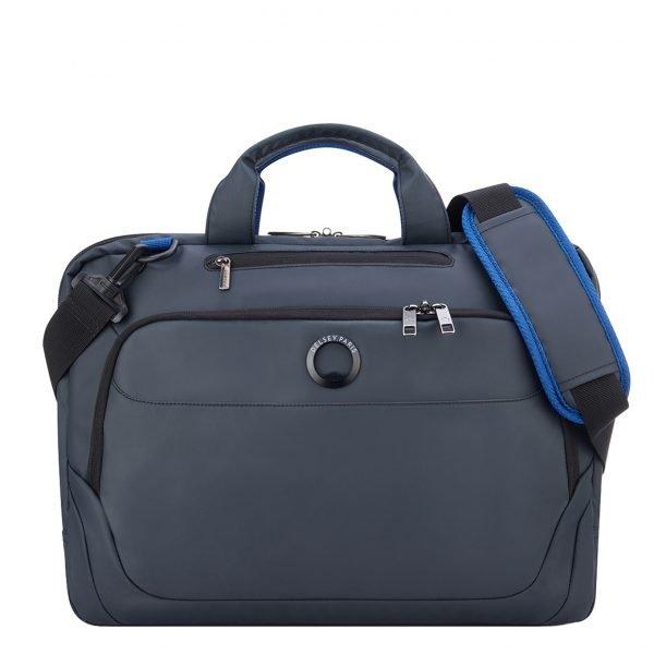 Delsey Parvis Plus 1 Compartment Laptop Satchel M 15.6'' gris
