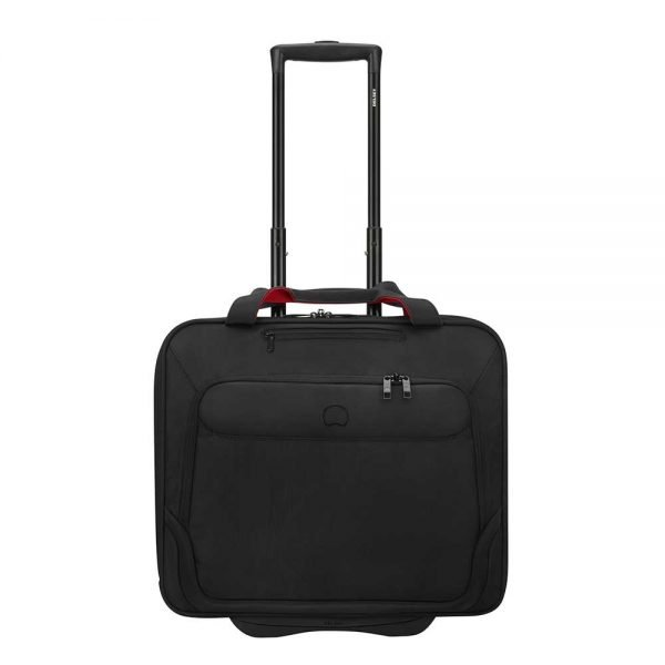 """Delsey Parvis Two Compartment Trolley Boardcase 17"""" black Pilotenkoffer"""