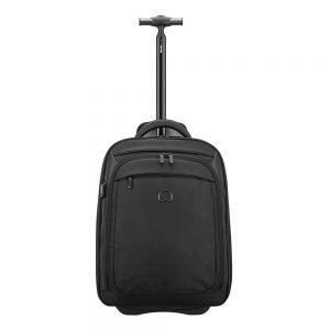 Delsey Quarterback Premium Expandable Cabin WPS Trolley Backpack black backpack