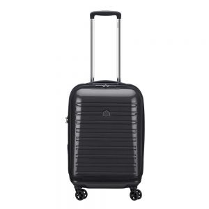 Delsey Segur 2.0 4 Wheels Expandable Business Cabin Trolley 55 black Harde Koffer