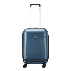 Delsey Segur 2.0 4 Wheels Expandable Business Cabin Trolley 55 blue Harde Koffer