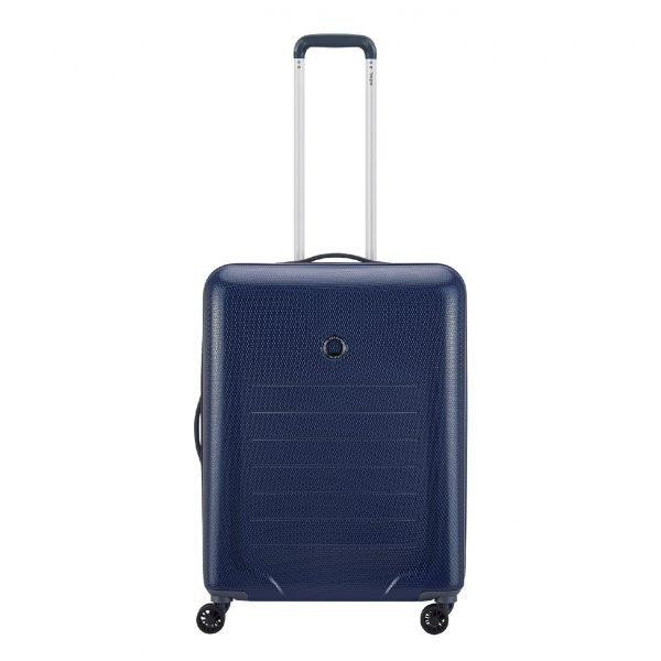 Delsey Toliara 4 Wiel Trolley 55 blue Harde Koffer