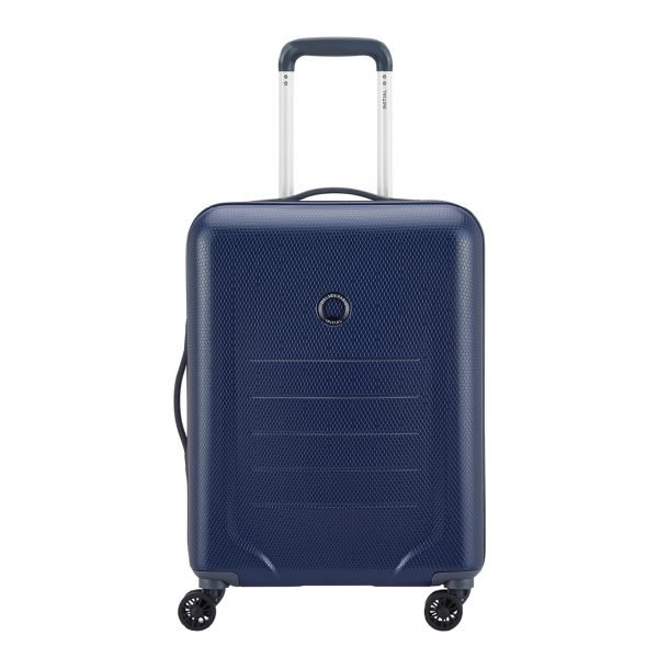 Delsey Toliara 4 Wiel Trolley 66 blue Harde Koffer