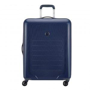 Delsey Toliara 4 Wiel Trolley 76 blue Harde Koffer