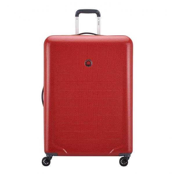 Delsey Toliara 4 Wiel Trolley 76 red Harde Koffer