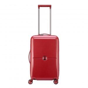 Delsey Turenne 4 Wheel Trolley 55 rouge Harde Koffer