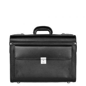 Dermata Business Leather Pilotcase zwart Pilotenkoffer