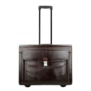 Dermata Business Leather Pilottrolley bruin Handbagage koffer