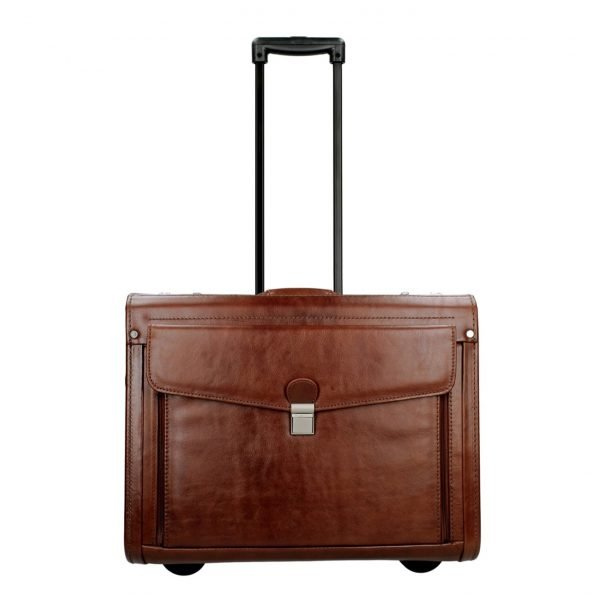 Dermata Business Leather Pilottrolley cognac Handbagage koffer