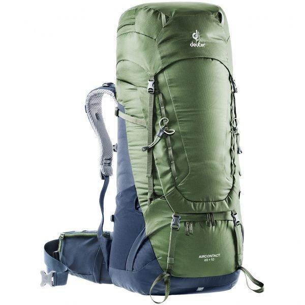 Deuter Aircontact 65 + 10 Backpack khaki/navy backpack