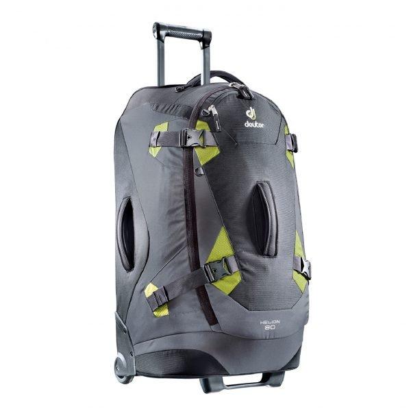 Deuter Helion 80 Travel Backpack black/moss Reistas