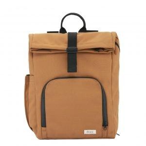 Dusq Vegan Bag Canvas sunset cognac backpack