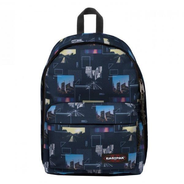 Eastpak Out Of Office Rugzak shapes blue backpack