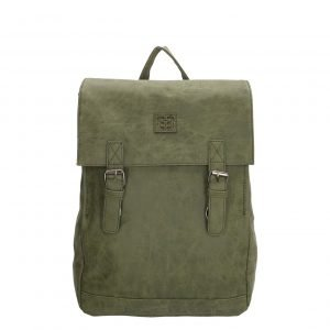 "Enrico Benetti Ardèche Laptoprugzak 13"" olijf backpack"